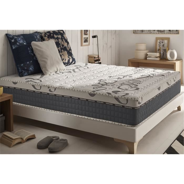 matelas m moire de forme top memory 140x200 cm en blue. Black Bedroom Furniture Sets. Home Design Ideas