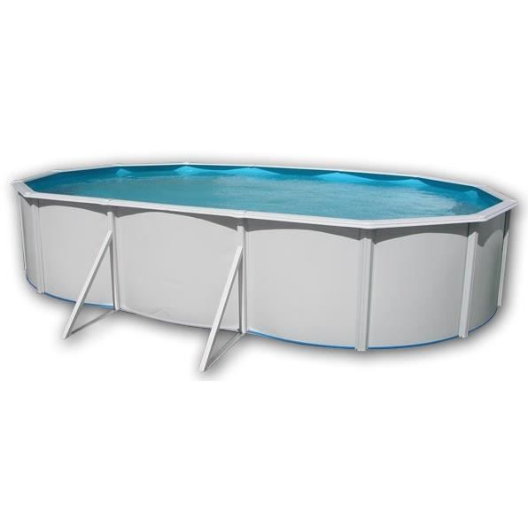 Prestigio piscine ovale en acier 640x366x132cm achat for Montage piscine hors sol acier
