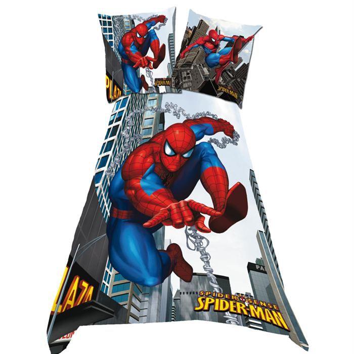 parure housse de couette spiderman sense chain achat. Black Bedroom Furniture Sets. Home Design Ideas
