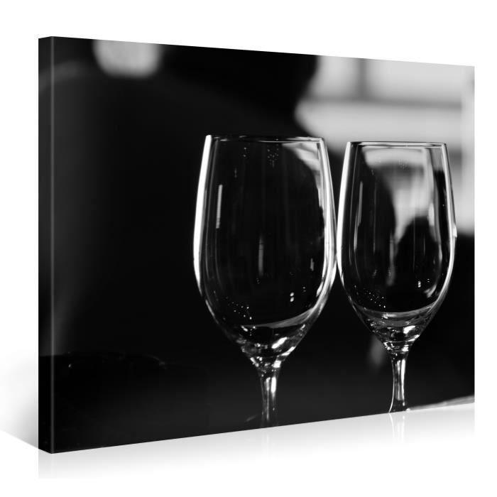 Tableau sur toile verres vin 100x75cm achat vente for Tableau imprime sur verre