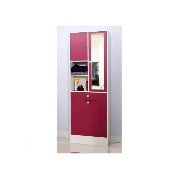 Armoire salle de bain bac a linge integre fuchsia achat - Meuble salle de bain bac a linge integre ...
