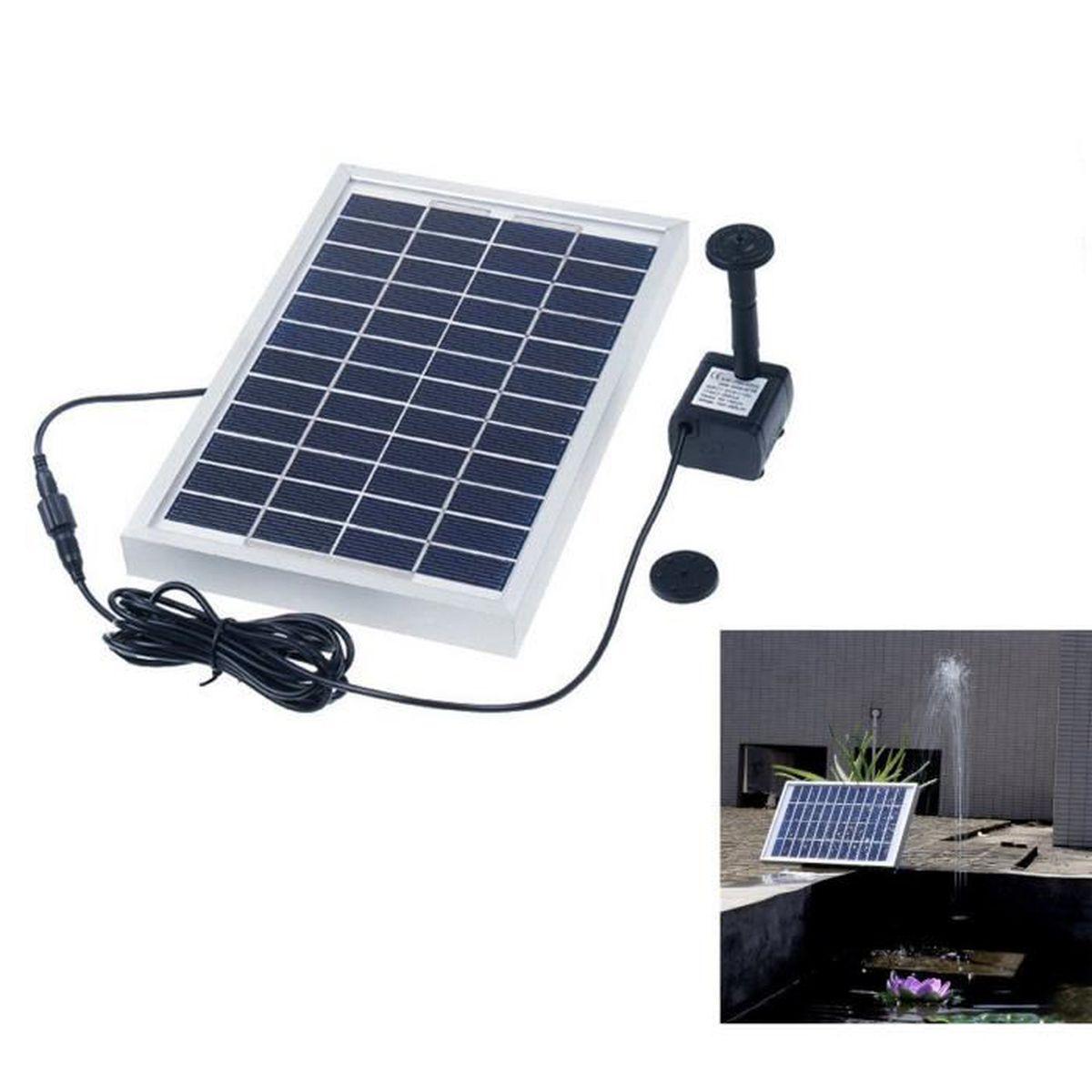 5w 380l h solaire panneau fontaine etanche pompe eau ext rieur jardin d cor achat vente. Black Bedroom Furniture Sets. Home Design Ideas