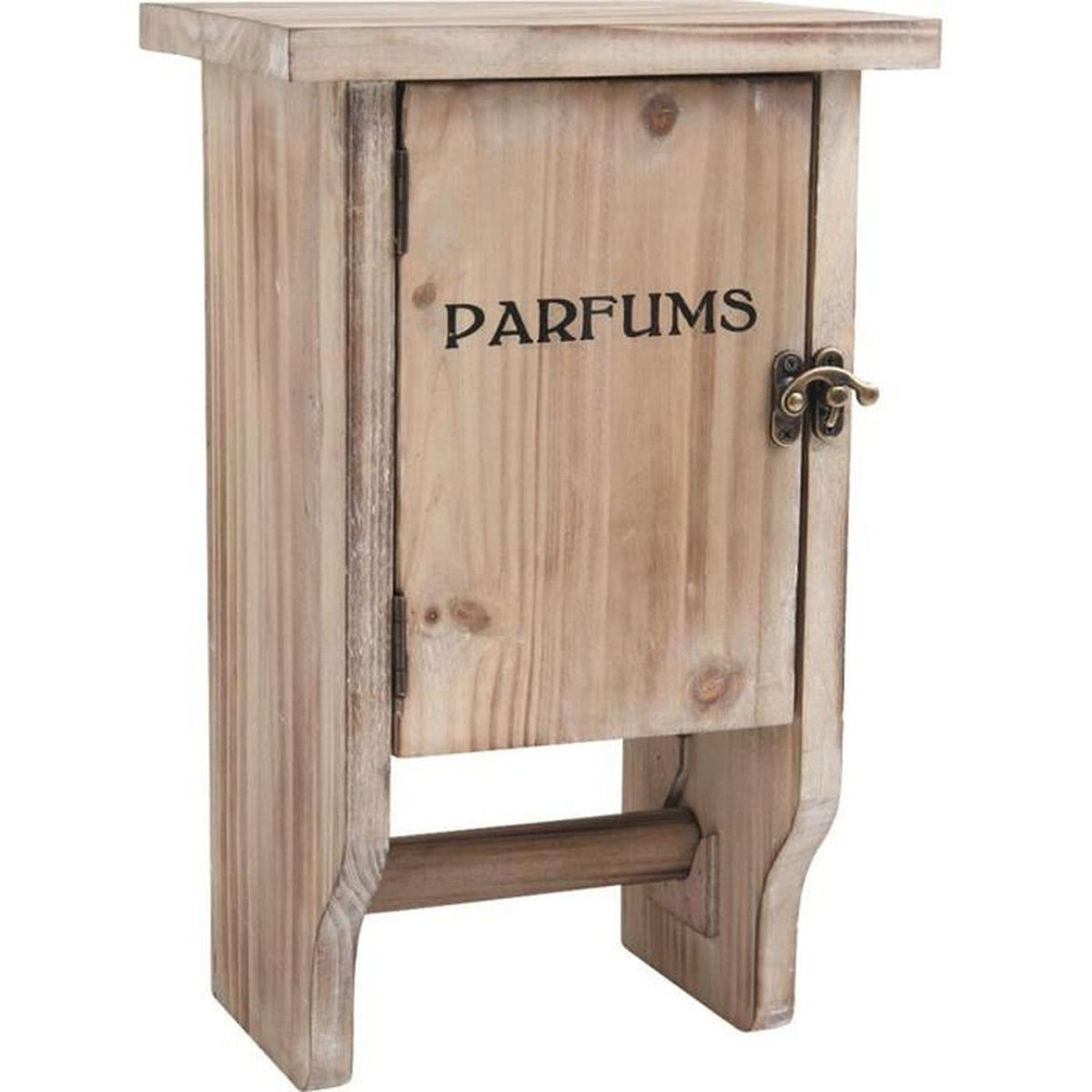Petite armoire en bois avec d rouleur papier wc 20 x 36 x for Petite armoire de rangement en bois
