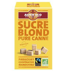 SUCRE - FAUX SUCRE ALTER ECO Sucre Blond Pure Canne Morceau Bio 500g