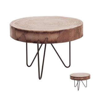 Table basse romantique achat vente table basse for Table basse rondin de bois