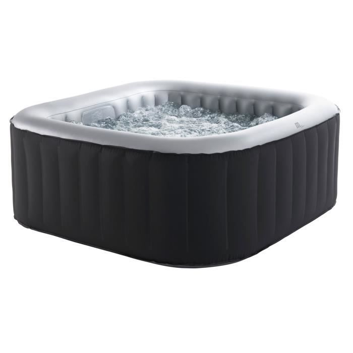 Spa gonflable carr 160cm 4 personnes achat vente spa complet kit spa - Destockage spa gonflable ...