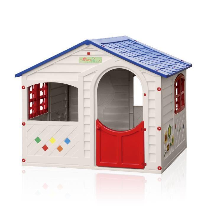 maisonnette en plastique pour enfants jardin exterieurs grand soleil casa mia achat vente. Black Bedroom Furniture Sets. Home Design Ideas