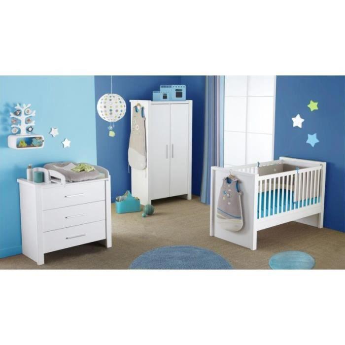 lit et commode 3 tiroirs pour b b blanc goa sans plan langer achat vente chambre. Black Bedroom Furniture Sets. Home Design Ideas