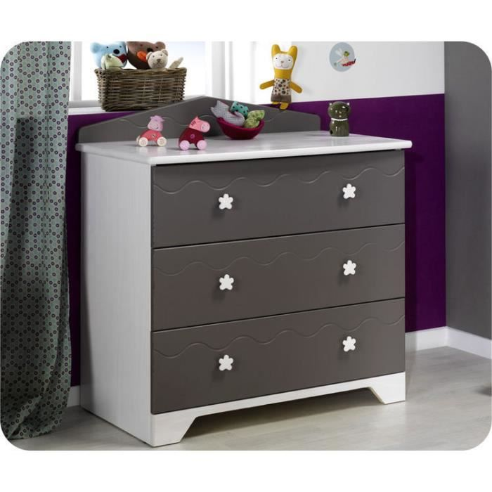 Eb commode b b paradis taupe plan langer achat for Commode table a langer bebe