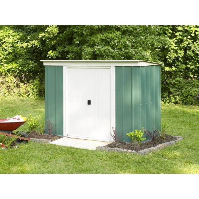 abri de jardin en m tal toit monopente m achat vente abri jardin chalet abri de. Black Bedroom Furniture Sets. Home Design Ideas