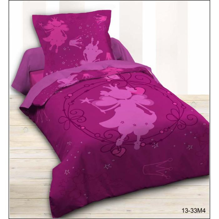Housse couette 140x200 1 taie princess achat vente parure de couette cdiscount - Housse de couette princesse 140x200 ...