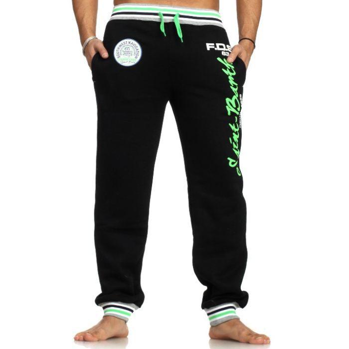pantalon jogging homme noir achat vente surv tement de sport pantalon jogging homme cdiscount. Black Bedroom Furniture Sets. Home Design Ideas