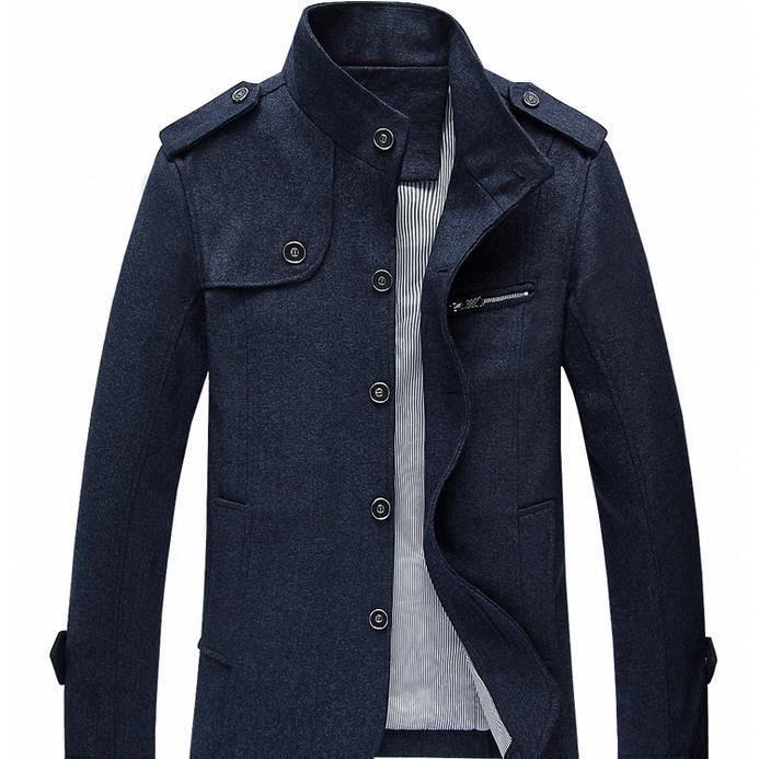 manteau homme blouson parka veste coat casual pour hiver haute qualit cu achat vente manteau. Black Bedroom Furniture Sets. Home Design Ideas