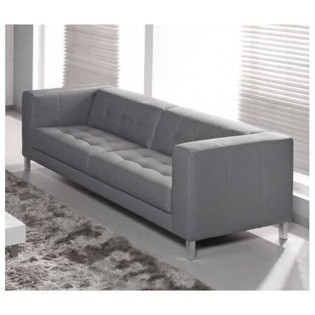 Canap capy 3 4 places couleur gris achat vente canap sofa div - Canape ultra confortable ...