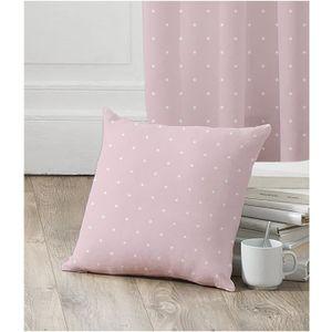 TODAY Coussin déhoussable déco enfant 100% coton Paris My Love 40x40 cm rose et blanc