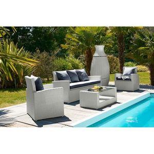 salon de jardin pvc achat vente salon de jardin pvc pas cher soldes cdiscount. Black Bedroom Furniture Sets. Home Design Ideas