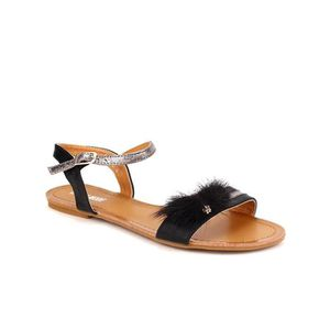 SANDALE - NU-PIEDS sandale - nu-pieds, Sandales Noir Chaussures Femme
