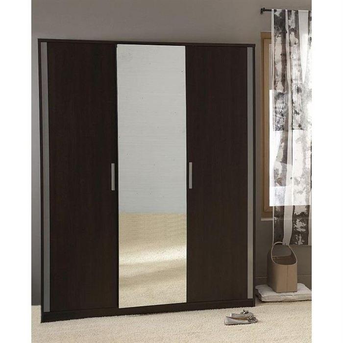 nina armoire 3 portes achat vente armoire de chambre nina armoire 3 portes panneaux de. Black Bedroom Furniture Sets. Home Design Ideas