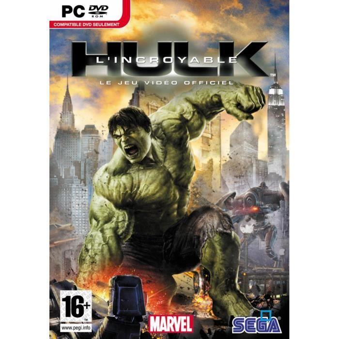 L 39 incroyable hulk jeu pc dvd rom achat vente jeu - Telecharger hulk ...