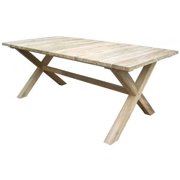 Table repas en teck recycl balik achat vente table for Table en teck recycle