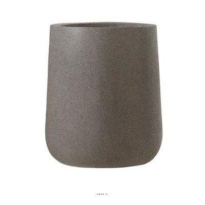 bac fibre de verre et composite teras exterieur chaudron d 47 xh 57cm taupe dimhaut h 57 cm. Black Bedroom Furniture Sets. Home Design Ideas