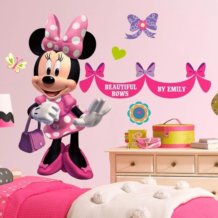 Stickers g ant la boutique de minnie mouse pr n achat - Vinilos para habitaciones de bebes ...