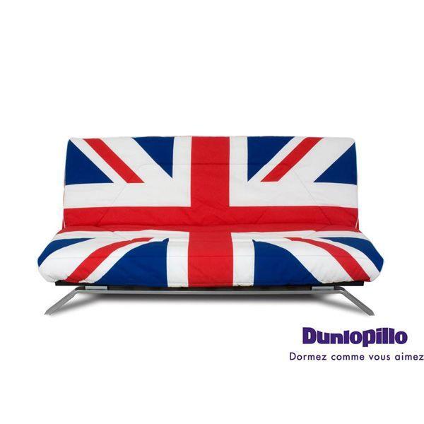 Banquette convertible london avec matelas dunlo achat - Housse clic clac london ...