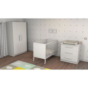 Mobilier chambre b b blanc achat vente mobilier chambre b b blanc pas cher cdiscount - Chambre bebe complete cdiscount ...