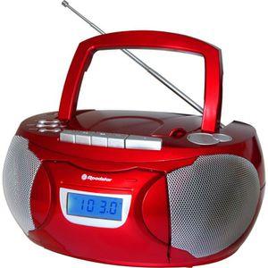 ROADSTAR RCR 3650RD Radio Cassette Portable MP3 Tuner Analogique Am/Fm Port USB Entrée Auxiliaire Fonction Horloge Prise Casque