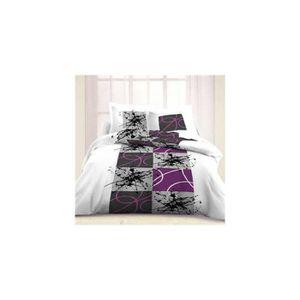 parure drap plat flanelle achat vente parure drap plat flanelle pas cher cdiscount. Black Bedroom Furniture Sets. Home Design Ideas