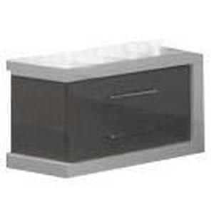 table chevet gris et blanc achat vente table chevet gris et blanc pas cher soldes cdiscount. Black Bedroom Furniture Sets. Home Design Ideas