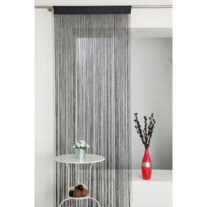 rideau fil noir achat vente rideau fil noir pas cher cdiscount. Black Bedroom Furniture Sets. Home Design Ideas