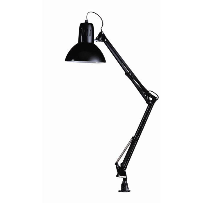 lampe poser architecte noir pince h79cm achat vente lampe poser architecte noir metal. Black Bedroom Furniture Sets. Home Design Ideas