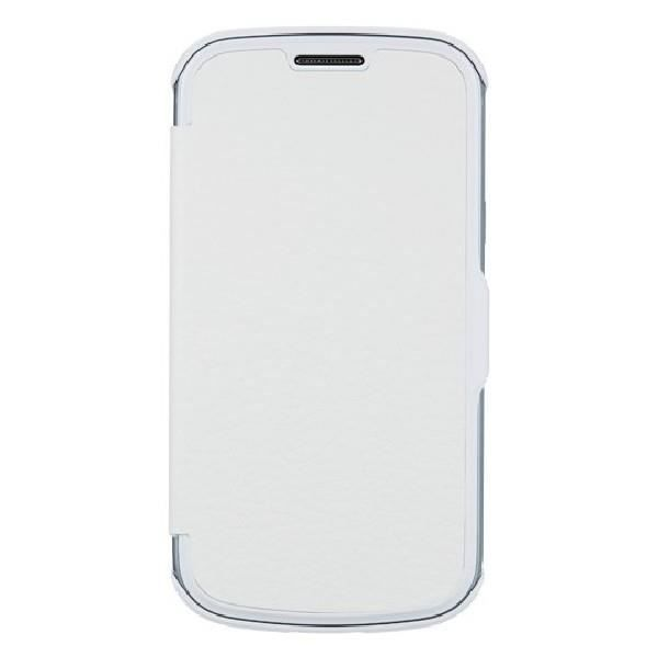 Etui coque folio anymode blanc pour samsung galaxy trend - Samsung galaxy trend lite blanc avis ...