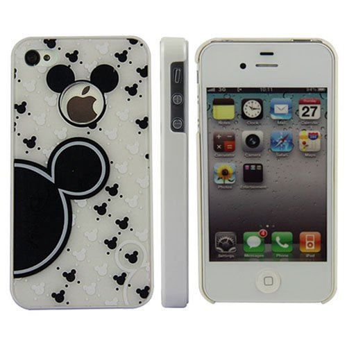 coque rigide iphone 4 4s mickey blanc achat coque. Black Bedroom Furniture Sets. Home Design Ideas