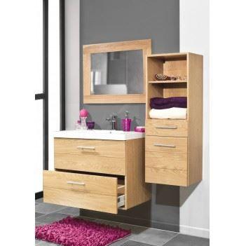 Ensemble salle de bain horizon ch ne vernis m achat for Decaper meuble vernis chene