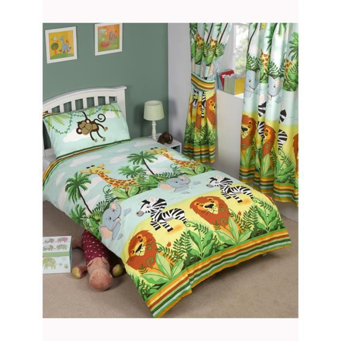 jungle housse de couette 2 personnes achat vente. Black Bedroom Furniture Sets. Home Design Ideas