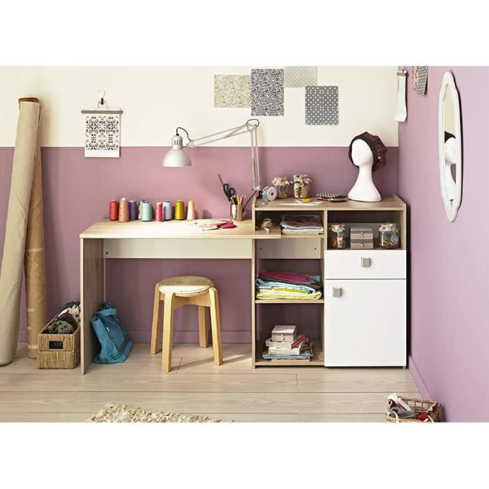 bureau modulable latvia bois achat vente bureau bureau modulable latvia bois cdiscount. Black Bedroom Furniture Sets. Home Design Ideas