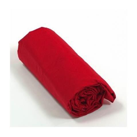drap housse percale 120x190x30 rouge achat vente drap housse cdiscount. Black Bedroom Furniture Sets. Home Design Ideas