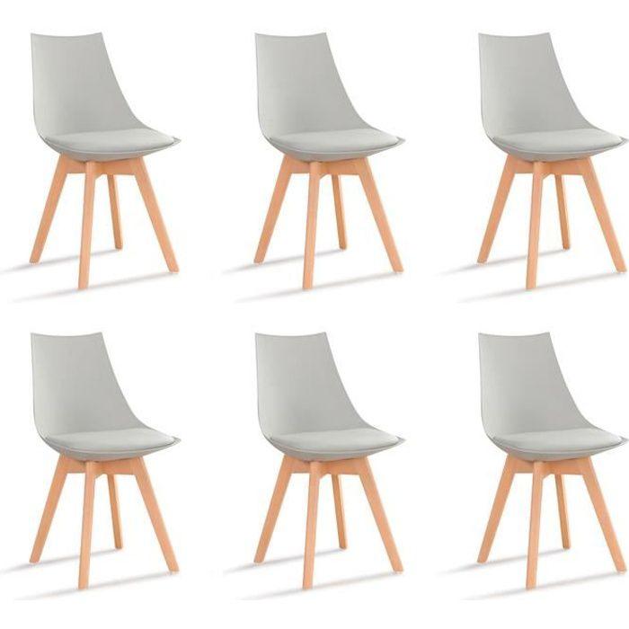 lot de 6 chaises grises prague achat vente chaise gris soldes cdiscount. Black Bedroom Furniture Sets. Home Design Ideas