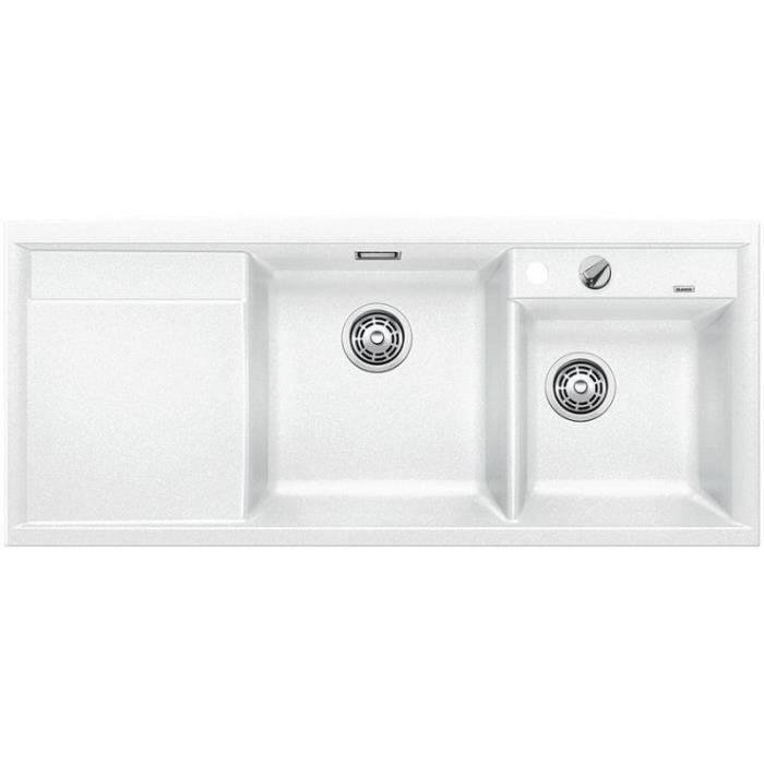 Evier encastrer blancoaxia ii 8 s blanc vid achat for Vente evier cuisine
