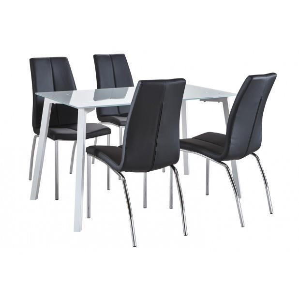 Ensemble luna odile table de sejour luna 140x80cm 4 for Ensemble table et chaise sejour