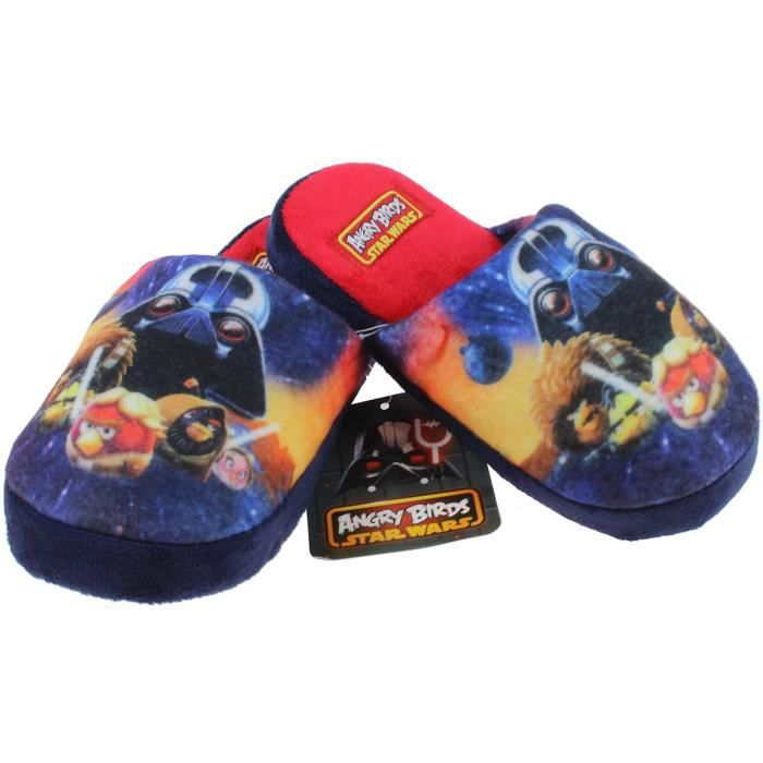 Chausson angry birds du 27 au 34 rouge bleu rouge achat vente chausson pantoufle cdiscount - Angry birds rouge ...