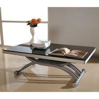 table basse transformable duplex noir