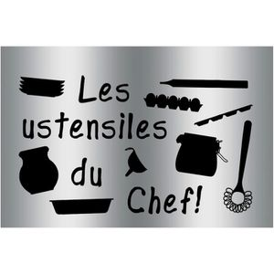 Plaque sticker gourmand protection cuisine ustensiles du - Sticker alu protection cuisine ...
