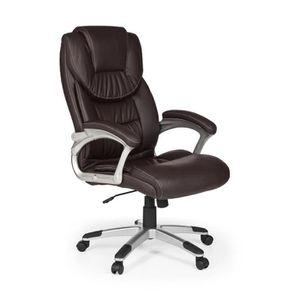 fauteuil de bureau marron achat vente fauteuil de bureau marron pas cher soldes cdiscount. Black Bedroom Furniture Sets. Home Design Ideas