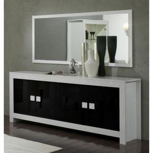 bahut 4 portes haut achat vente bahut 4 portes haut pas cher cdiscount. Black Bedroom Furniture Sets. Home Design Ideas