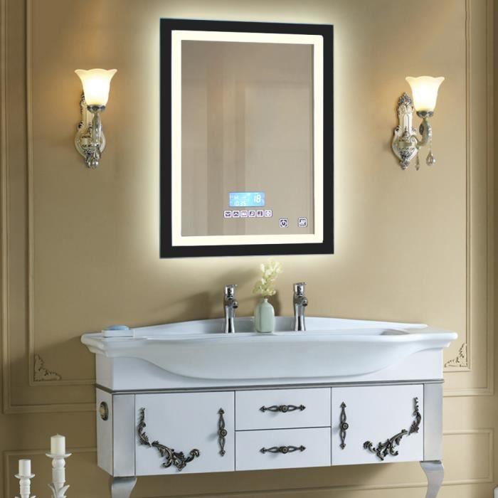 600x 800cm miroir de vanit salle de bains moderne led miroir lumineux imperm able l 39 eau mont. Black Bedroom Furniture Sets. Home Design Ideas