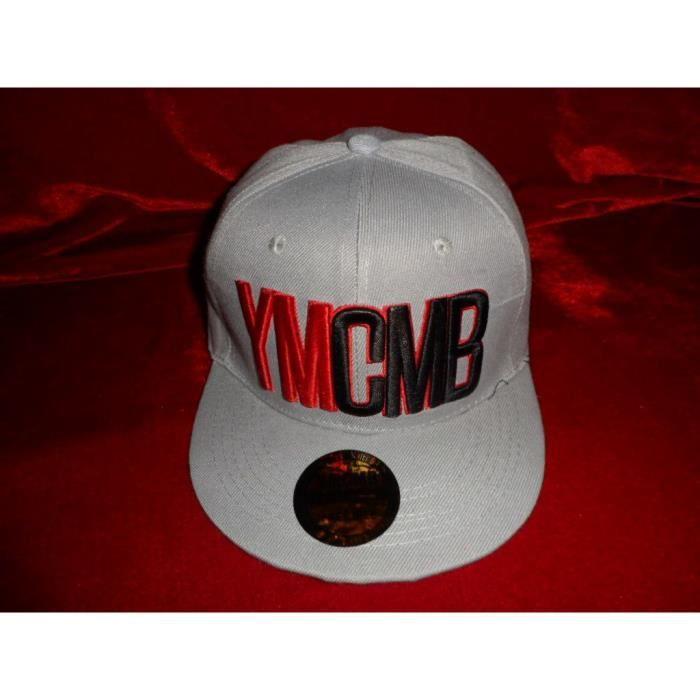 casquette ymcmb hip hop grise rouge et noire reglable achat vente casquette 2009918814172. Black Bedroom Furniture Sets. Home Design Ideas