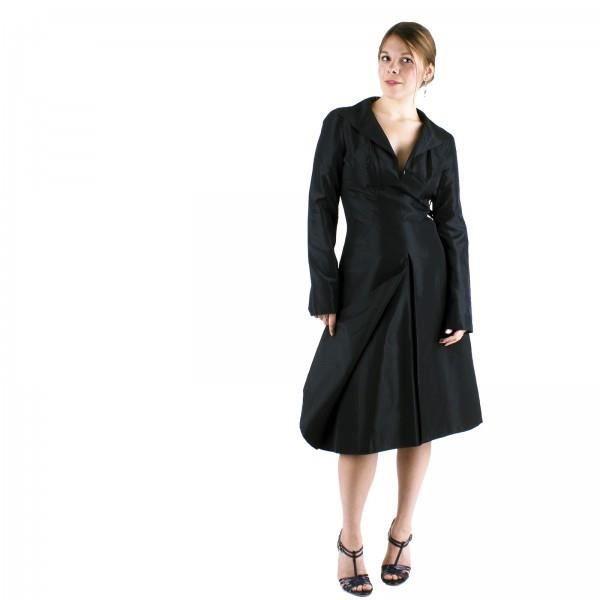 robe de soir e coktail cr ateur couturier t36 t noir achat vente robe de c r monie. Black Bedroom Furniture Sets. Home Design Ideas